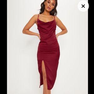 Red Silk Crowl Dress